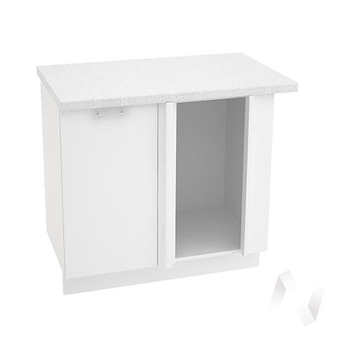 "Кухня ""Валерия-М"": Шкаф нижний угловой 990М, ШНУ 990М (белый глянец/корпус белый)"
