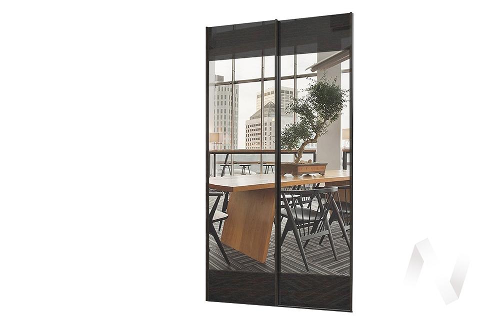 Комплект фасадов с зеркалом 1432 СТЛ.299.50 Марвин-3 (Дуб феррара глянец/Зеркало)