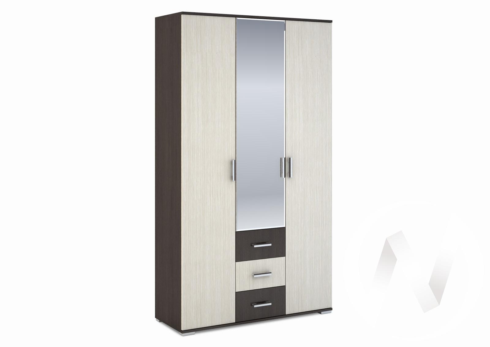 """Шкаф 3-створчатый с ящиками 1200 """"Рошель"""" (венге/дуб белфорд) ШК-803"""