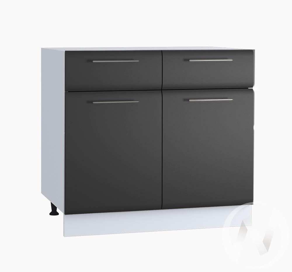 """Кухня """"Люкс"""": Шкаф нижний с ящиками 800, ШН1Я 800 (Шелк венге/корпус белый)"""