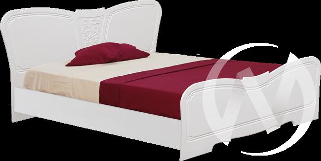Тиффани Кровать 1,4 №1 (бодега-рельеф пастель)