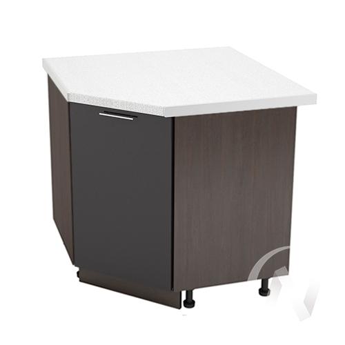 """Кухня """"Валерия-М"""": Шкаф нижний угловой 890, ШНУ 890 (черный металлик/корпус венге)"""