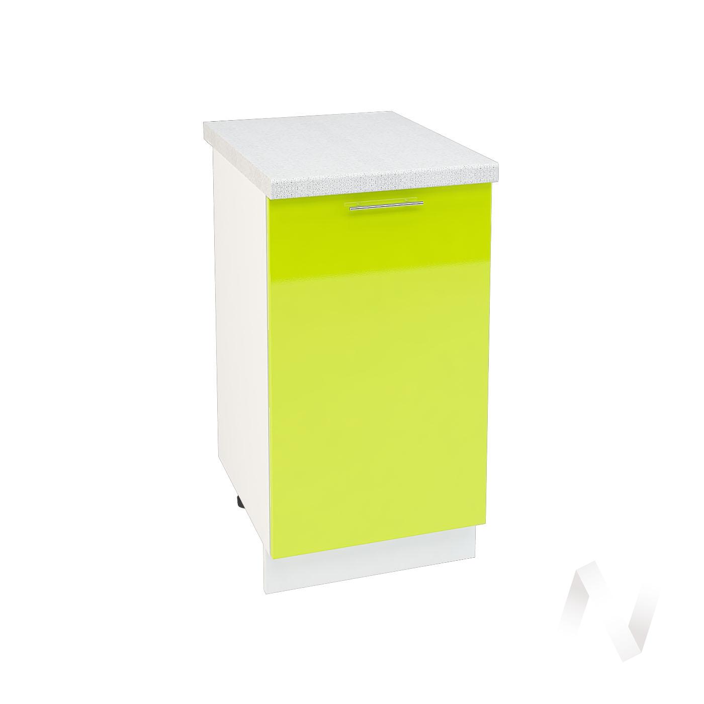"Кухня ""Валерия-М"": Шкаф нижний 450, ШН 450 (лайм глянец/корпус белый)"