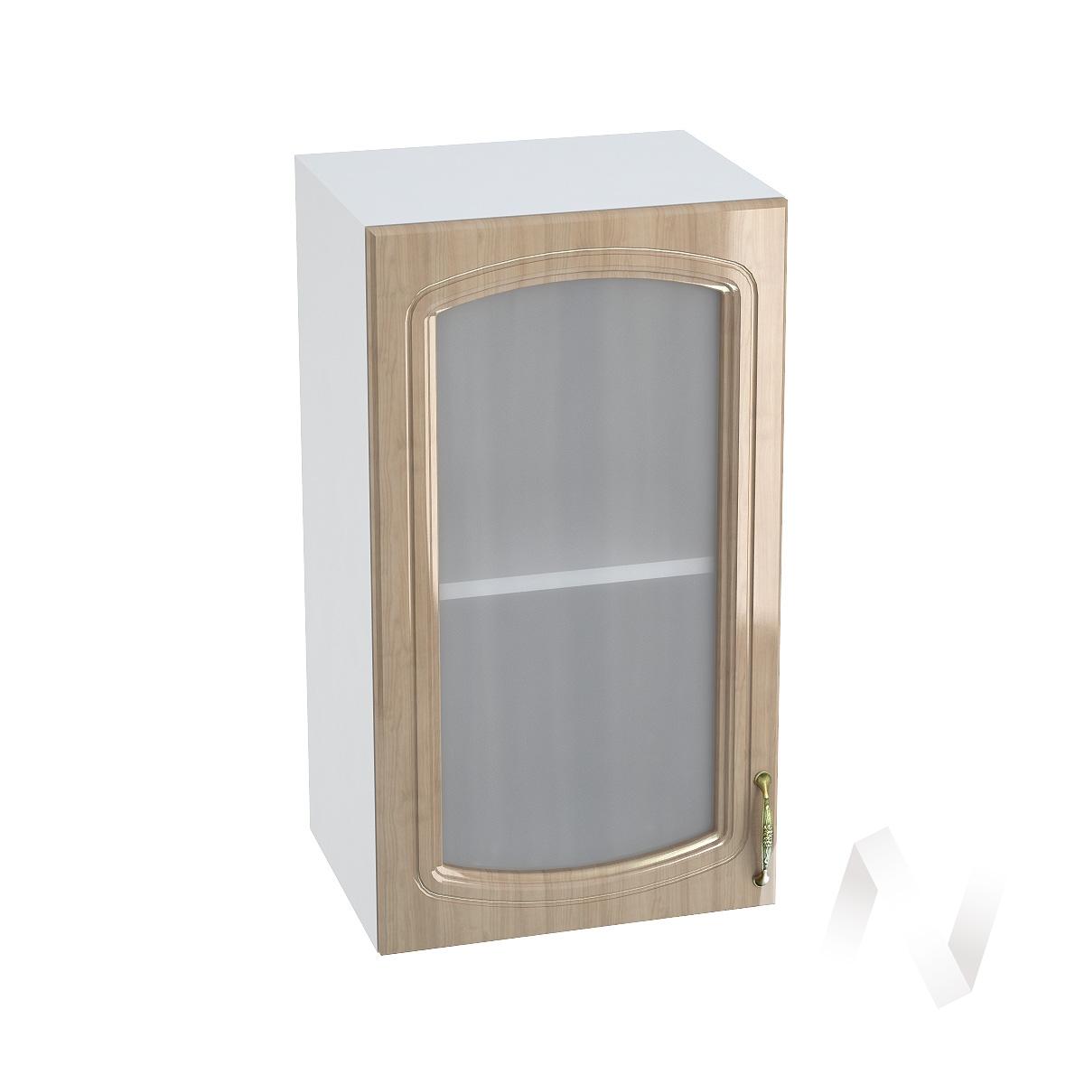 "Кухня ""Сити"": Шкаф верхний со стеклом 400, ШВС 400 (корпус белый)"