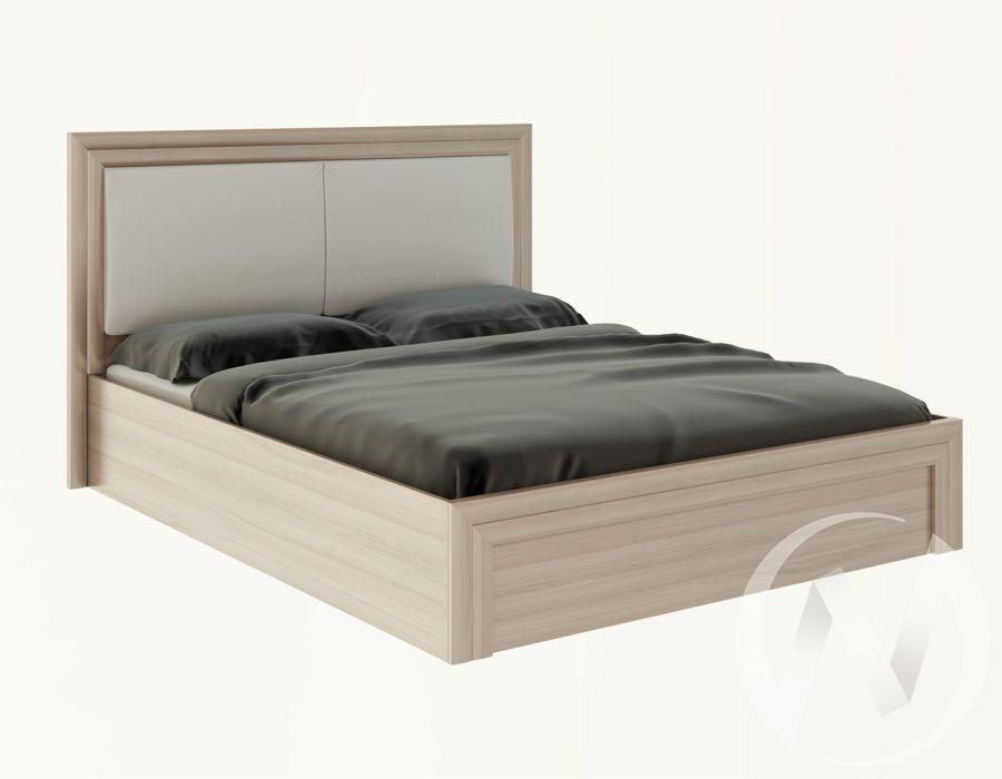 Кровать 1,6 с подъем. мех. и мягкой частью М32 Глэдис (ясень шимо светлый/белый)