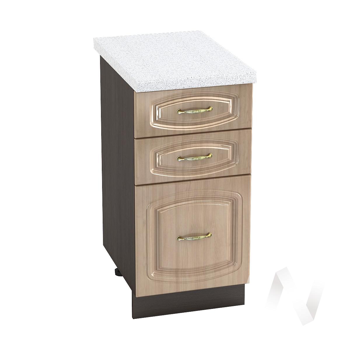 """Кухня """"Сити"""": Шкаф нижний с 3-мя ящиками 400, ШН3Я 400 (корпус венге)"""