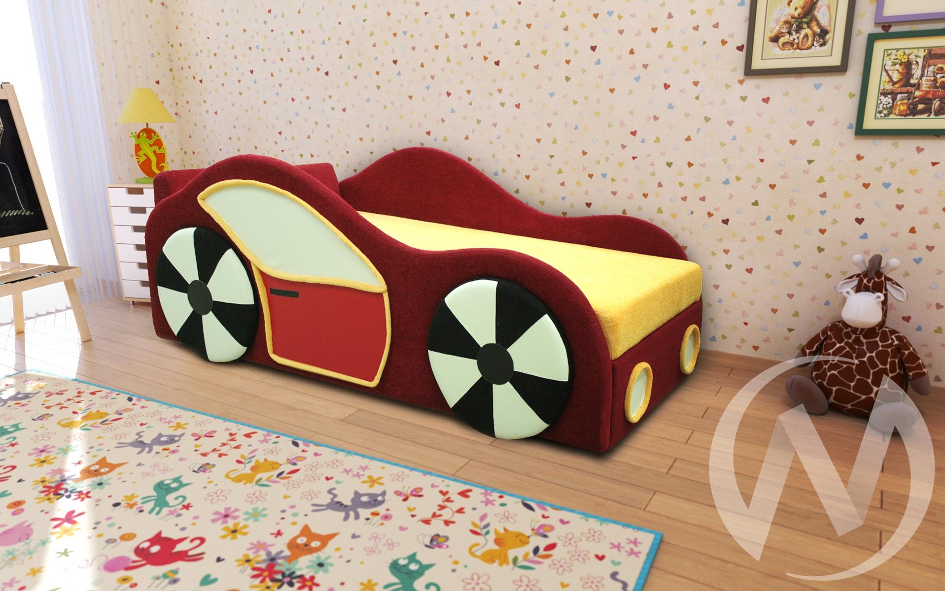 Машинка кровать детская, аппликация  в Томске — интернет магазин МИРА-мебель