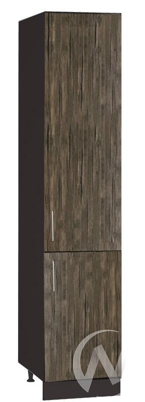 """Кухня """"Норден"""": Шкаф пенал 400, ШП 400 (старое дерево/корпус венге) в Томске — авторская мебель Экостиль"""