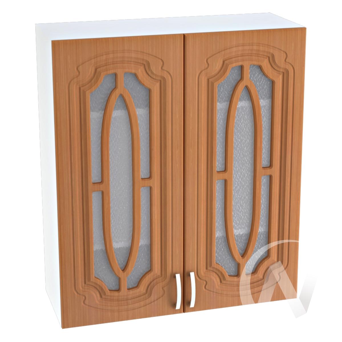 """Кухня """"Настя"""": Шкаф верхний со стеклом 809, ШВС 809 (Орех миланский/корпус белый)"""
