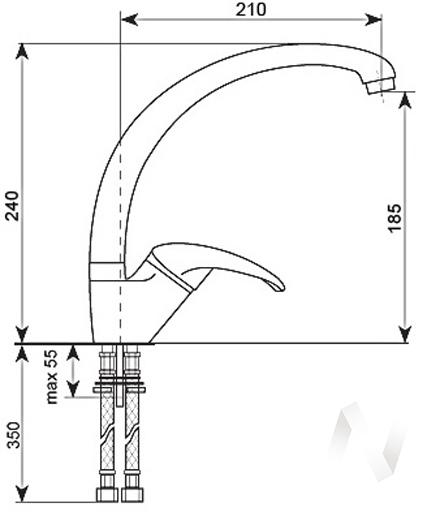 Смеситель керамический U-007 (серый 310)  в Томске — интернет магазин МИРА-мебель