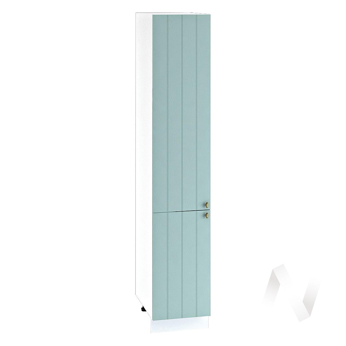 "Кухня ""Прованс"": Шкаф пенал 400, ШП 400 (голубой/корпус белый)"