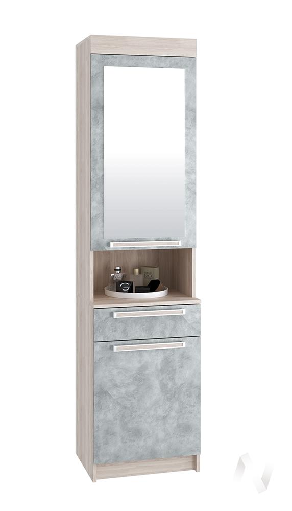 Шкаф с зеркалом Лофт ясень шимо светлый/бетон серый