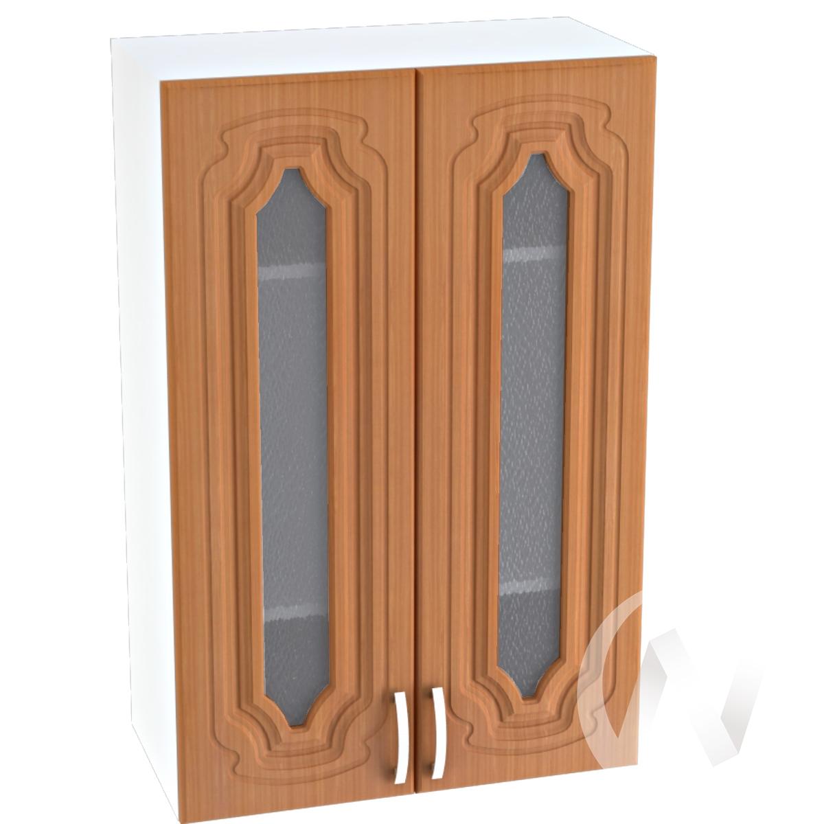 """Кухня """"Настя"""": Шкаф верхний со стеклом 609, ШВС 609 (Орех миланский/корпус белый)"""