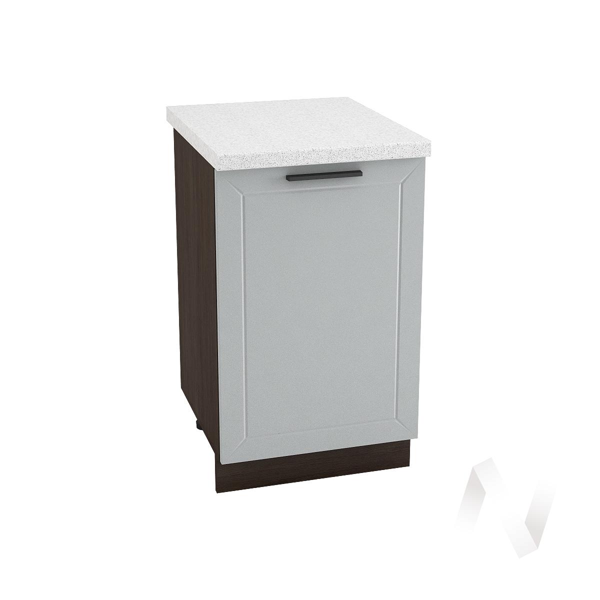"Кухня ""Глетчер"": Шкаф нижний 500, ШН 500 (Гейнсборо Силк/корпус венге)"