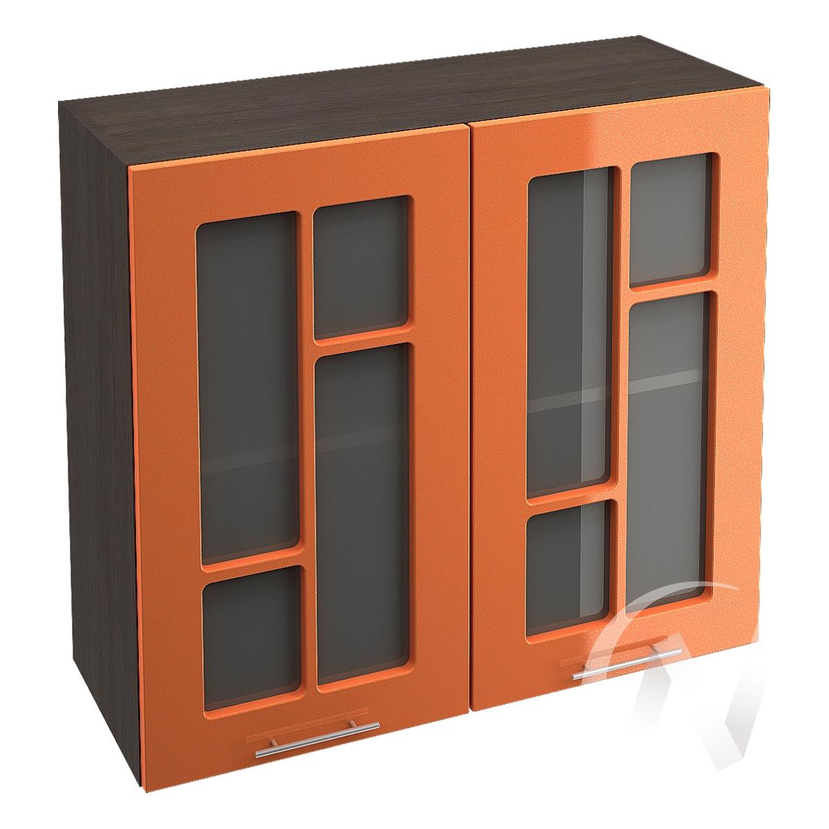 "Кухня ""Техно"": Шкаф верхний со стеклом 800, ШВС 800 (корпус венге)"