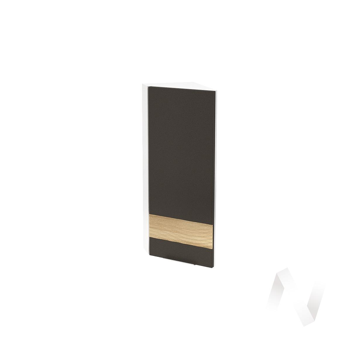 """Кухня """"Терра"""": Шкаф верхний торцевой правый 224, ШВТ 224 (смоки софт/ель карпатская/корпус белый)"""