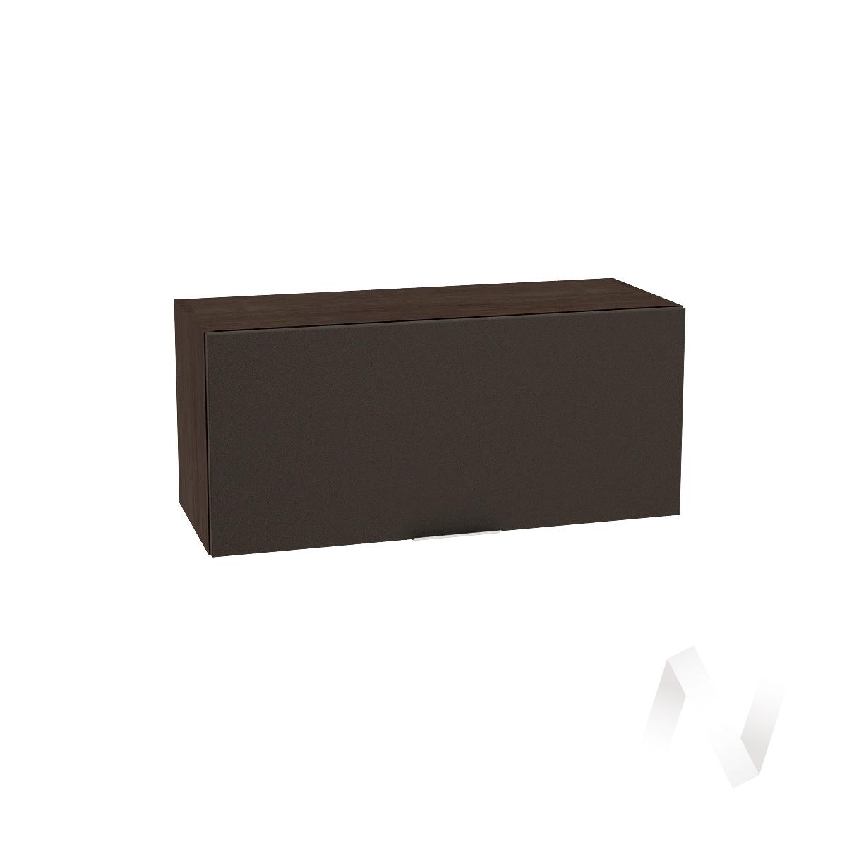 """Кухня """"Терра"""": Шкаф верхний горизонтальный 800, ШВГ 800 (смоки софт/корпус венге)"""