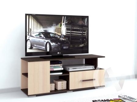 Тумба TV Парус-4 (венге/дуб молочный) недорого в Томске — интернет-магазин авторской мебели Экостиль