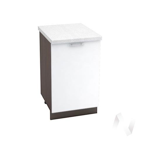 "Кухня ""Валерия-М"": Шкаф нижний 500, ШН 500 (белый глянец/корпус венге)"