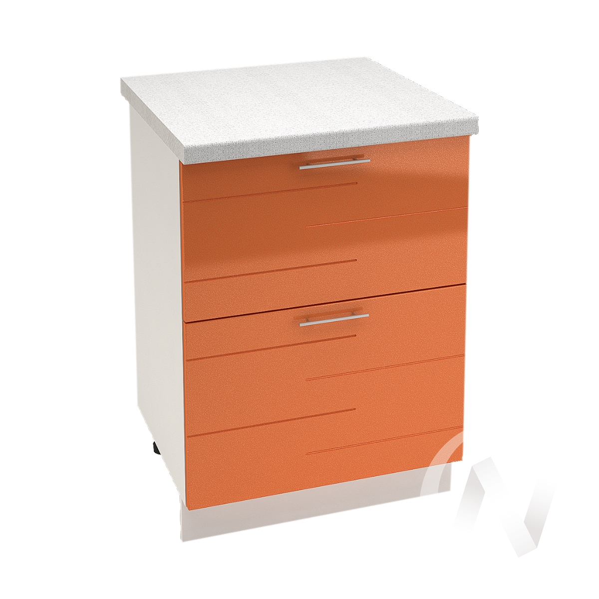 """Кухня """"Техно"""": Шкаф нижний с 2-мя ящиками 600, ШН2Я 600 (корпус белый)"""