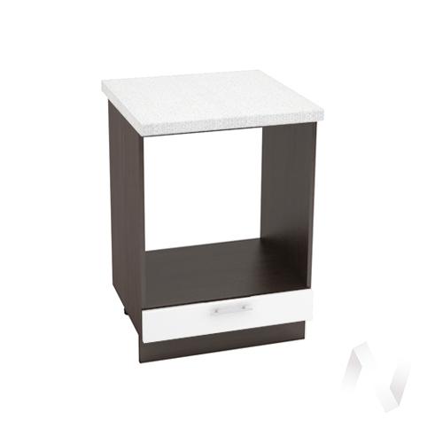 "Кухня ""Валерия-М"": Шкаф нижний под духовку 600, ШНД 600 (белый глянец/корпус венге)"