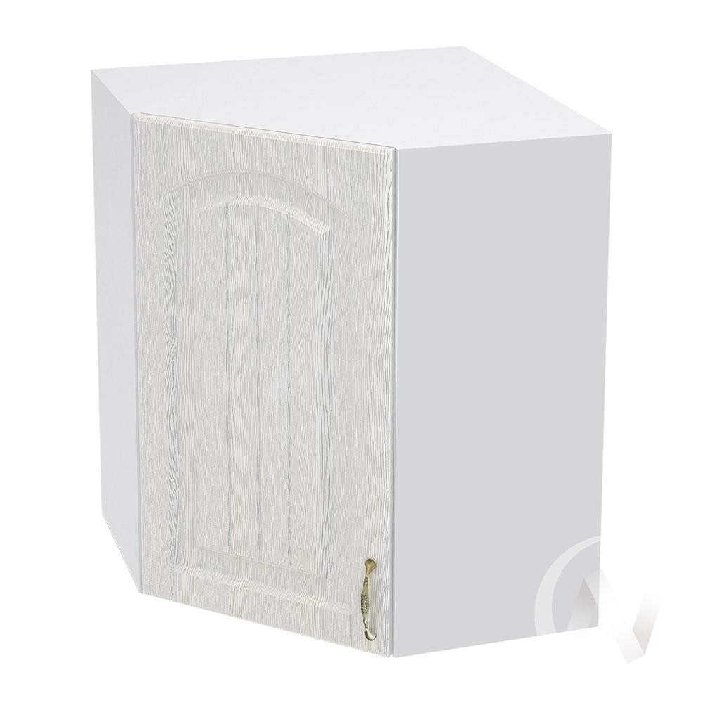 """Кухня """"Верона"""": Шкаф верхний угловой 590 левый, ШВУ 590  (ясень золотистый/корпус белый)"""