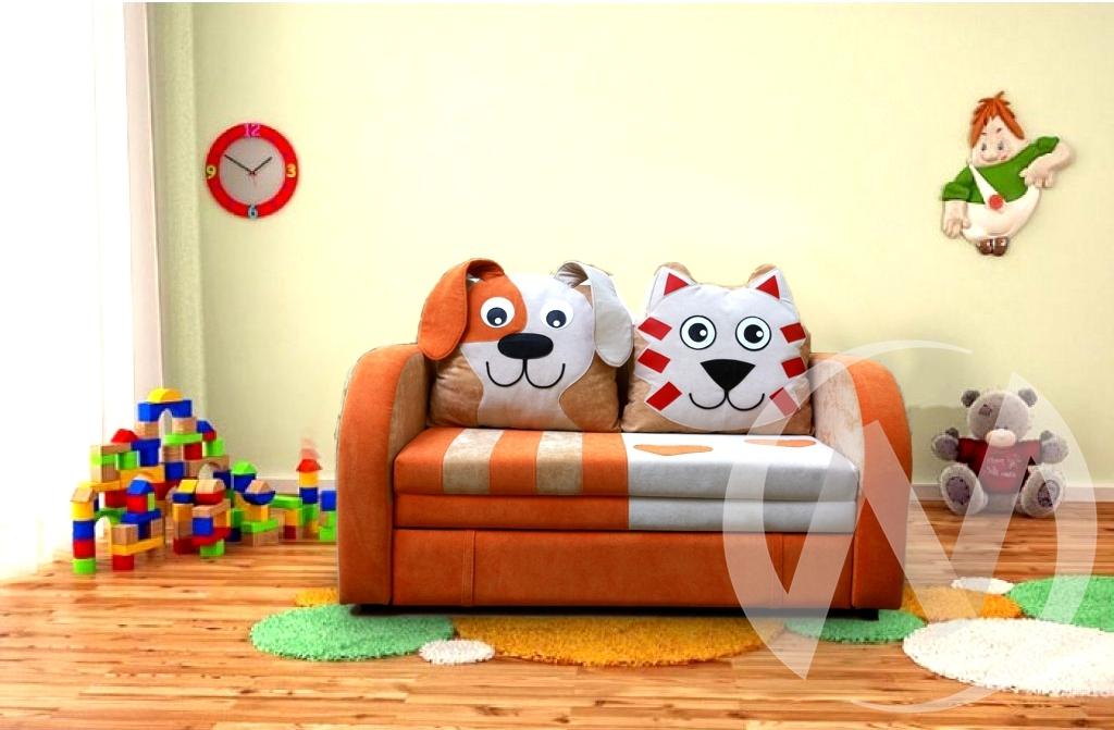 Кот и пес диван детский  в Томске — интернет магазин МИРА-мебель