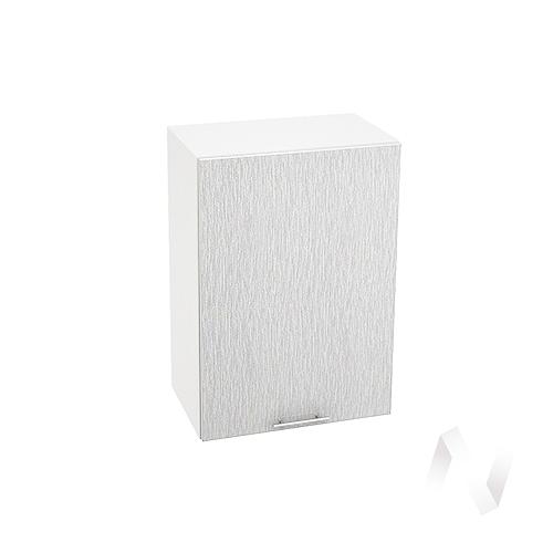 "Кухня ""Валерия-М"": Шкаф верхний 500, ШВ 500 (дождь серый/корпус белый)"