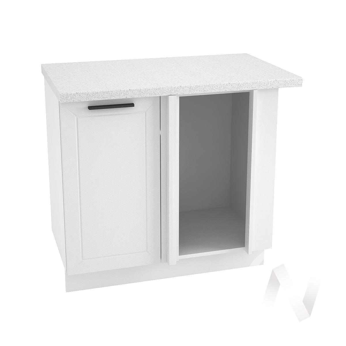 "Кухня ""Глетчер"": Шкаф нижний угловой 990М, ШНУ 990М (Айленд силк/корпус белый)"