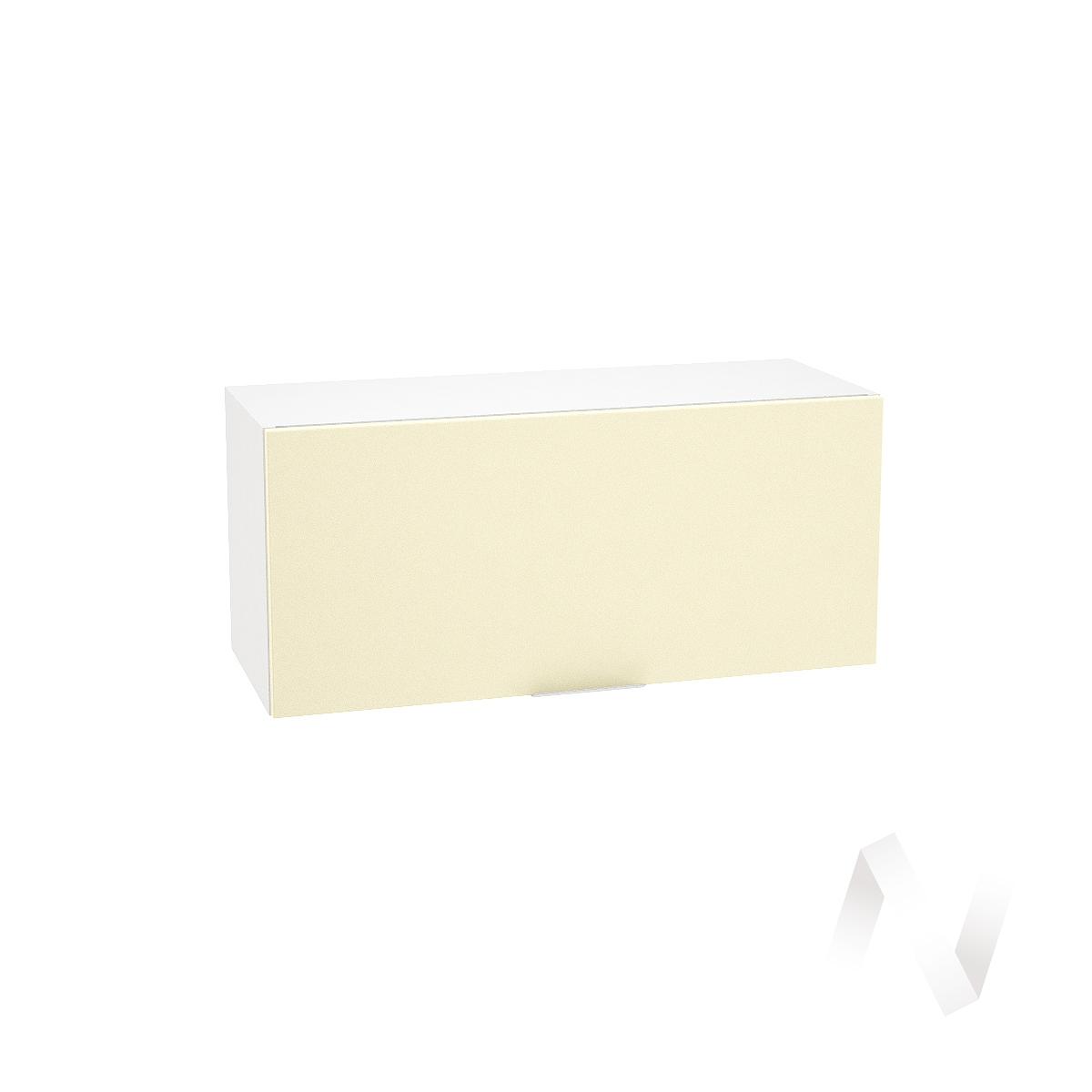 """Кухня """"Терра"""": Шкаф верхний горизонтальный 800, ШВГ 800 (ваниль софт/корпус белый)"""