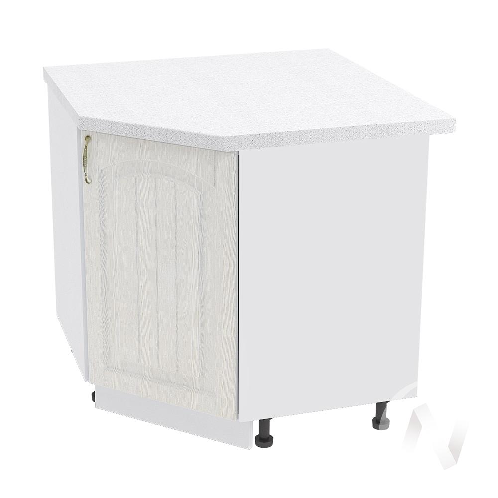 """Кухня """"Верона"""": Шкаф нижний угловой 890 правый, ШНУ 890 (ясень золотистый/корпус белый)"""