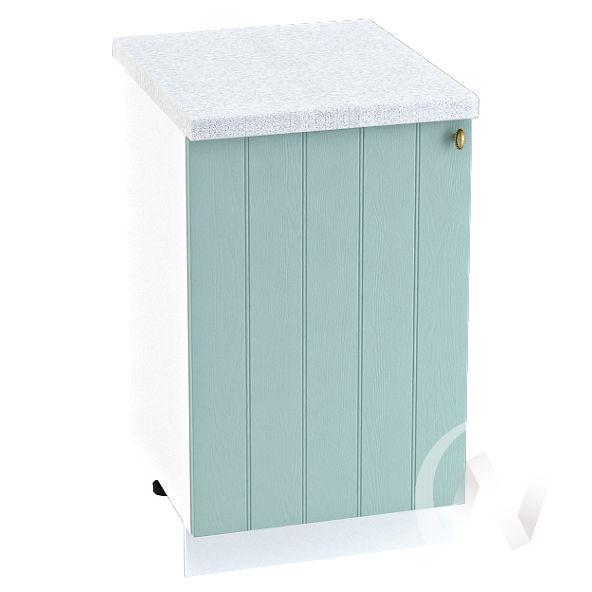 "Кухня ""Прованс"": Шкаф нижний 500, ШН 500 (голубой/корпус белый)"