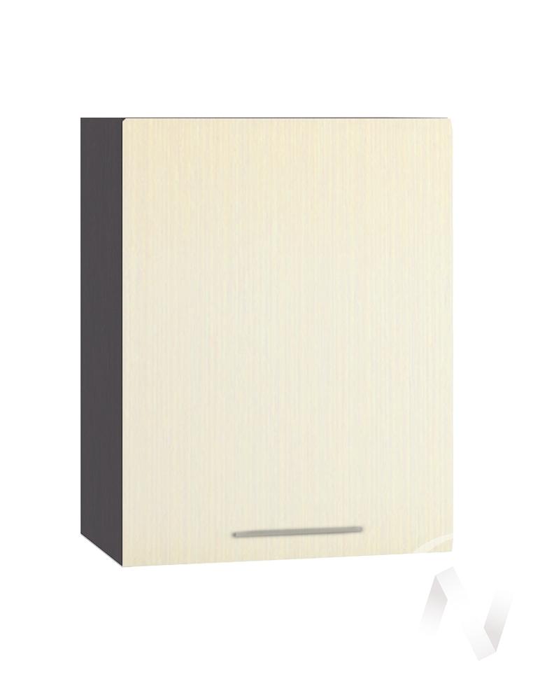 """Кухня """"Люкс"""": Шкаф верхний 500, ШВ 500 (Шелк жемчуг/корпус венге)"""