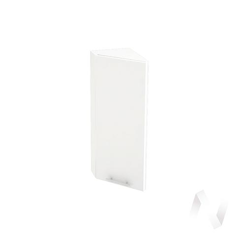 """Кухня """"Валерия-М"""": Шкаф верхний торцевой 224, ШВТ 224 (белый глянец/корпус белый)"""