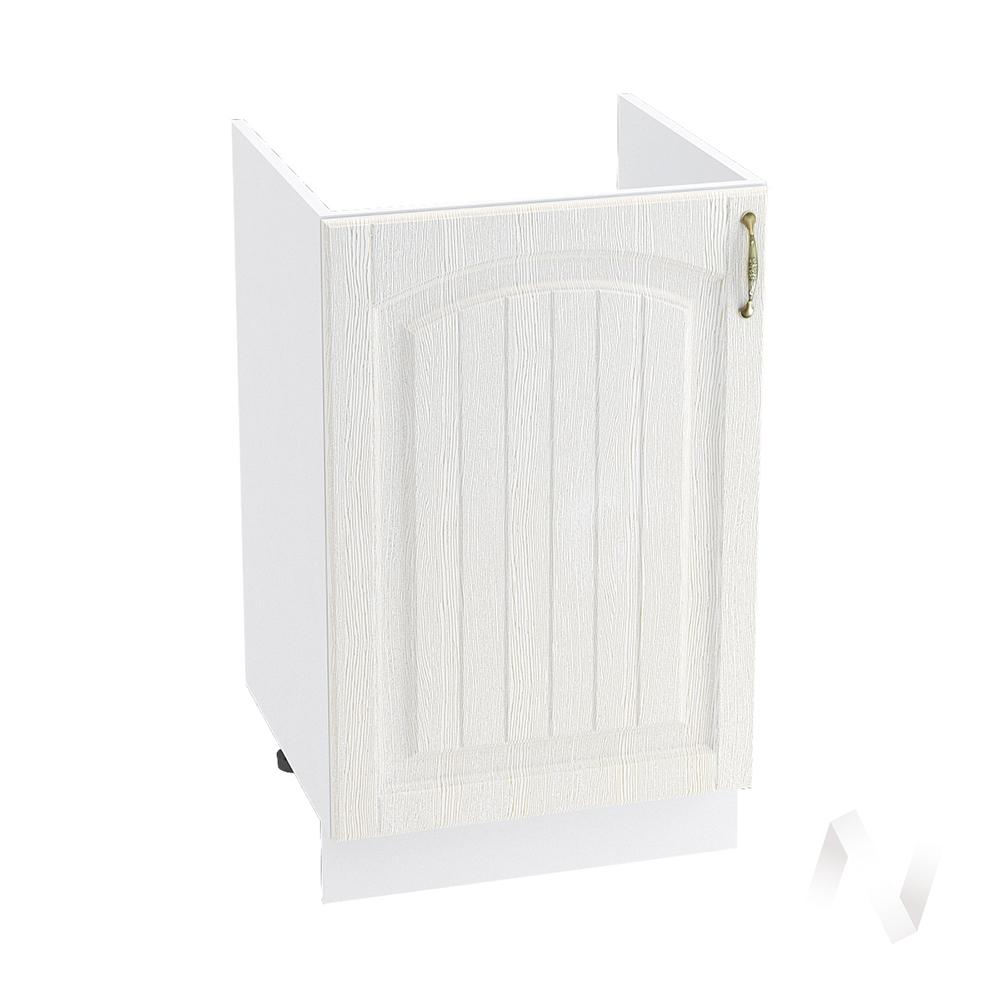 """Кухня """"Верона"""": Шкаф нижний под мойку 500, ШНМ 500 (ясень золотистый/корпус белый)"""