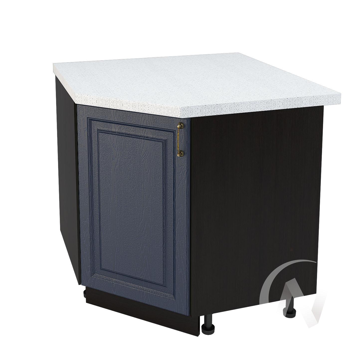 """Кухня """"Ницца"""": Шкаф нижний угловой 890, ШНУ 890 (Дуб чернильный/корпус венге)"""