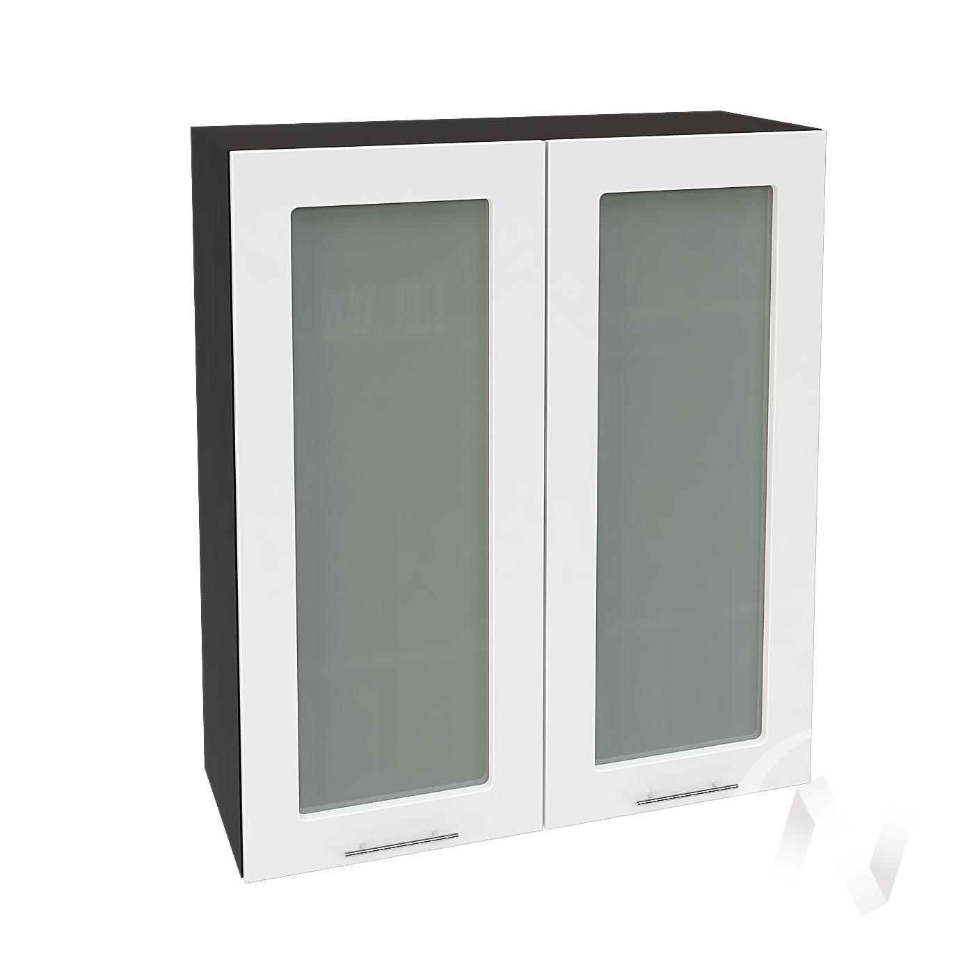 """Кухня """"Валерия-М"""": Шкаф верхний со стеклом 809, ШВС 809 (белый глянец/корпус венге)"""