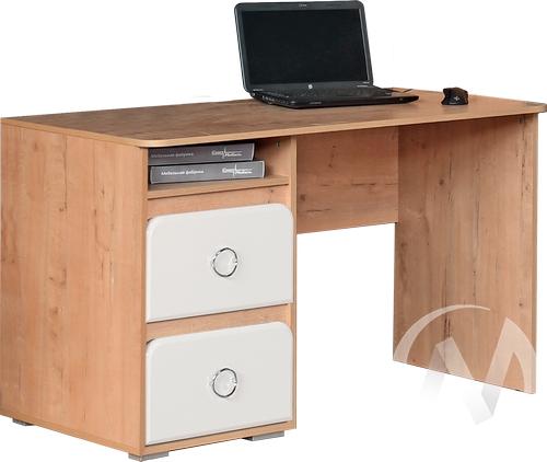 Скай М1 Стол компьютерный (дуб бунратти/белый глянец)