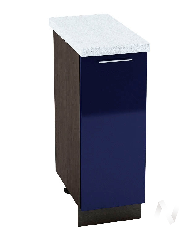 "Кухня ""Валерия-М"": Шкаф нижний 300, ШН 300 (Синий глянец/корпус венге)"