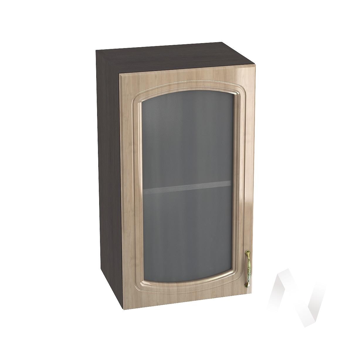 "Кухня ""Сити"": Шкаф верхний со стеклом 400, ШВС 400 (корпус венге)"