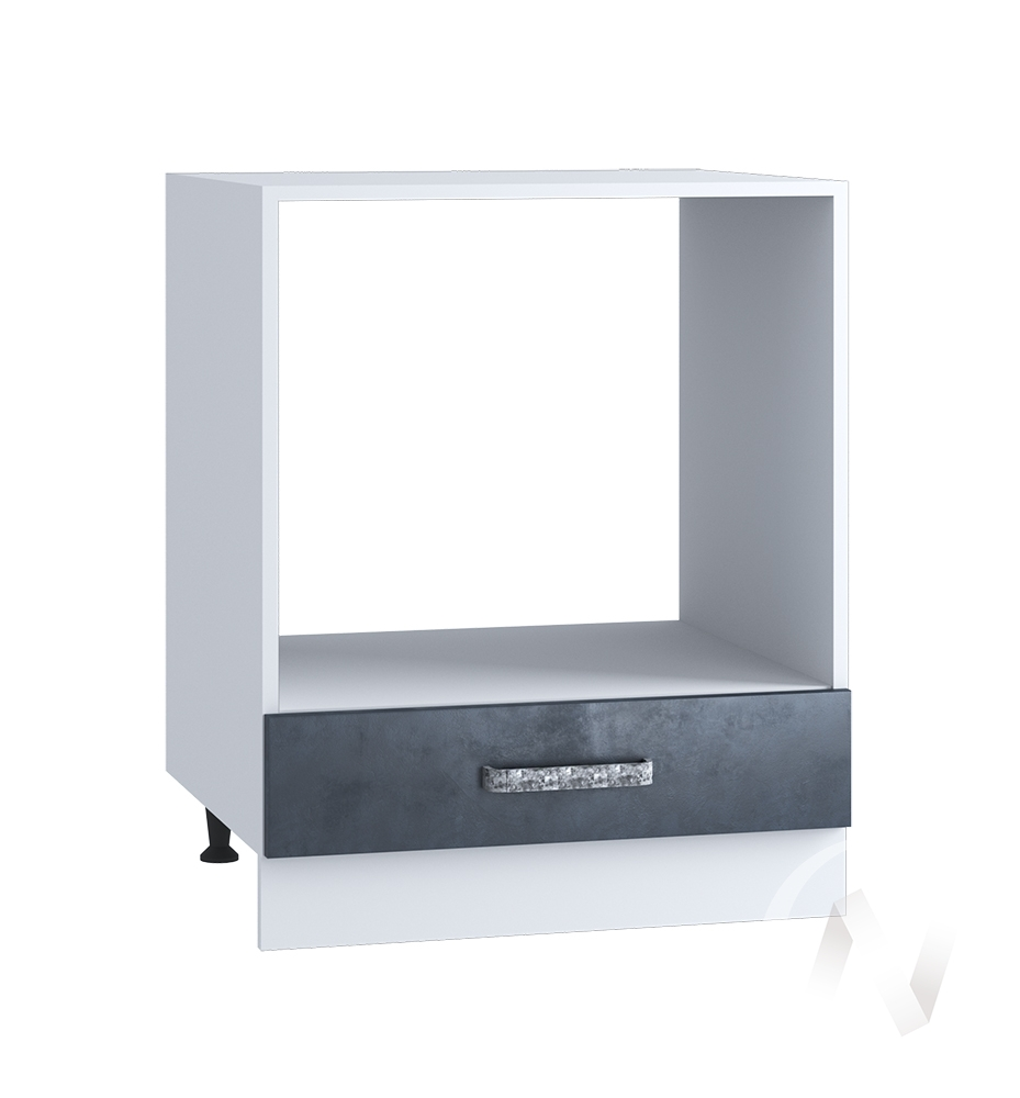 "Кухня ""Лофт"": Шкаф нижний под духовку 600, ШНД 600 (Бетон графит/корпус белый)"