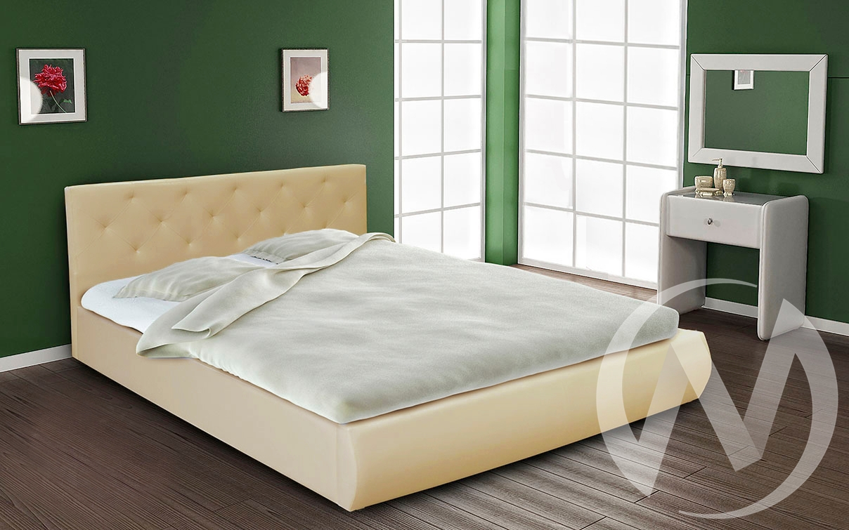 Кровать интерьерная 1,4 (бежевый)