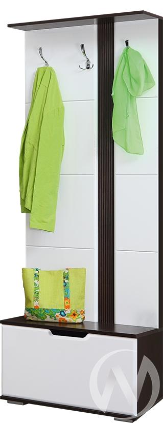 Стелла М-2 Вешалка 0,7 (венге-белый глянец)  в Томске — интернет магазин МИРА-мебель