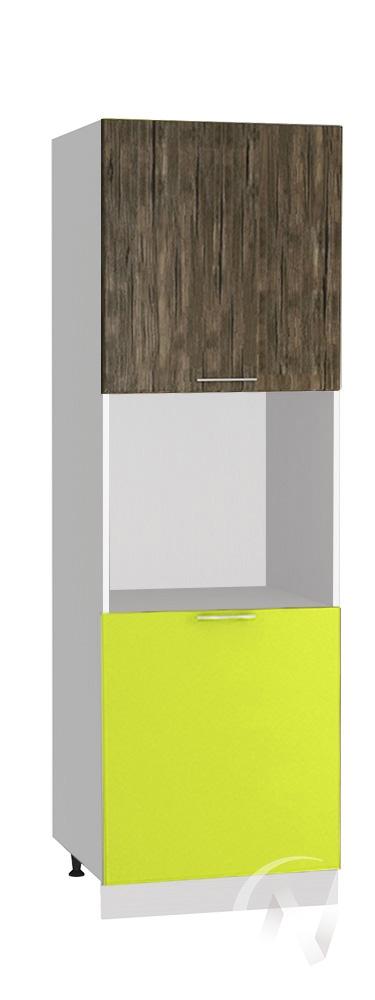 "(1)Кухня ""Норден"": Шкаф пенал 600, ШП 600 (старое дерево/лайм глянец/корпус белый)"