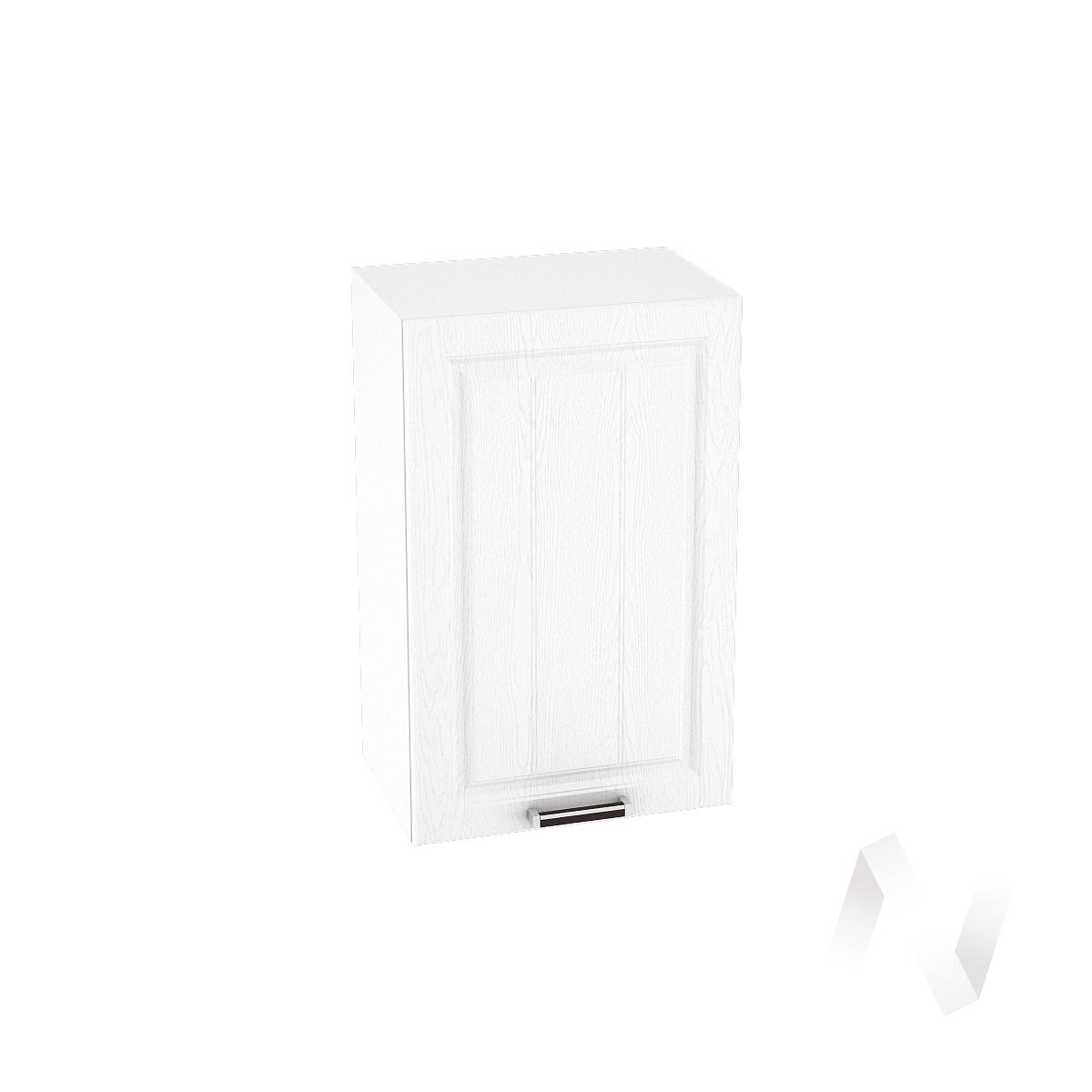 """Кухня """"Прага"""": Шкаф верхний 450, ШВ 450 (белое дерево/корпус белый)"""