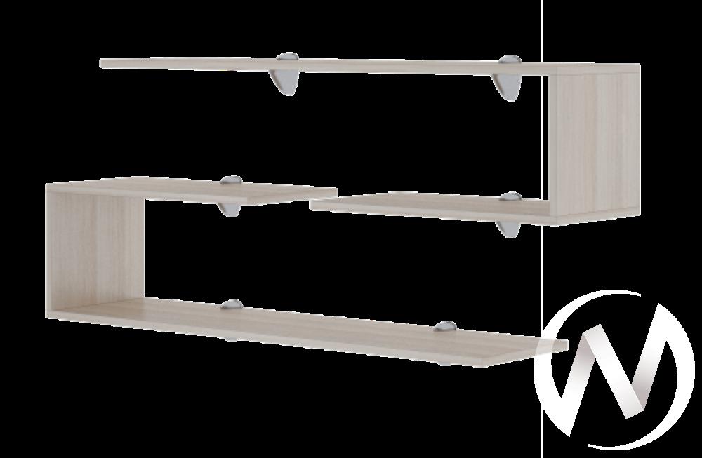 Полка навесная 3 М18 Остин (ясень шимо светлый/белый)