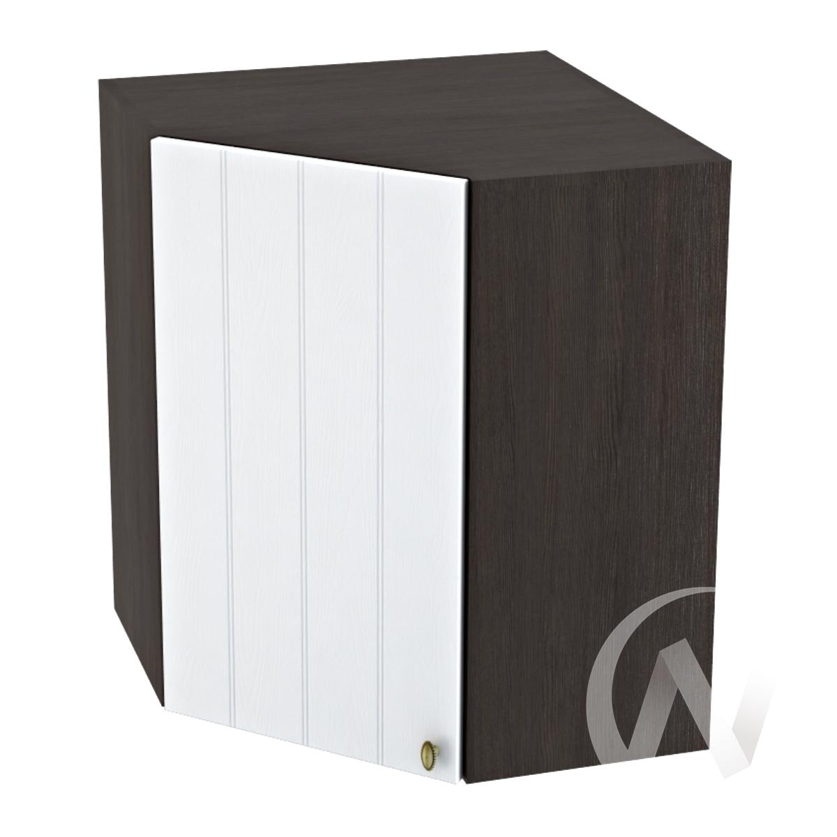 """Кухня """"Прованс"""": Шкаф верхний угловой 590, ШВУ 590 (белое дерево/корпус венге)"""