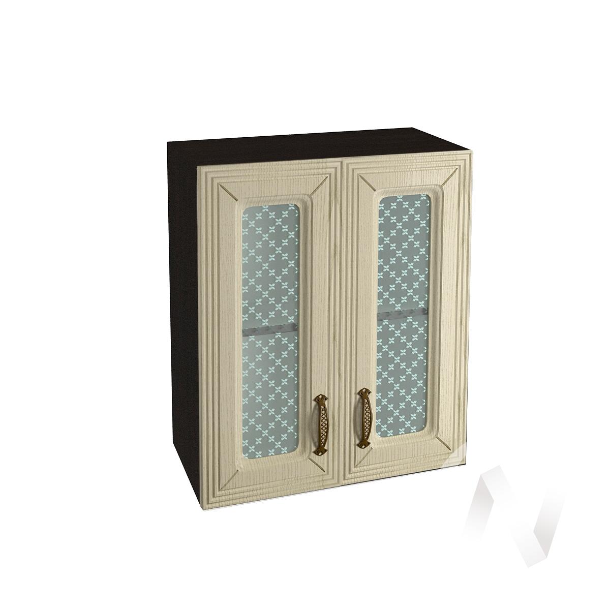 """Кухня """"Изабель"""": Шкаф верхний со стеклом 600, ШВС 600 (корпус венге)"""