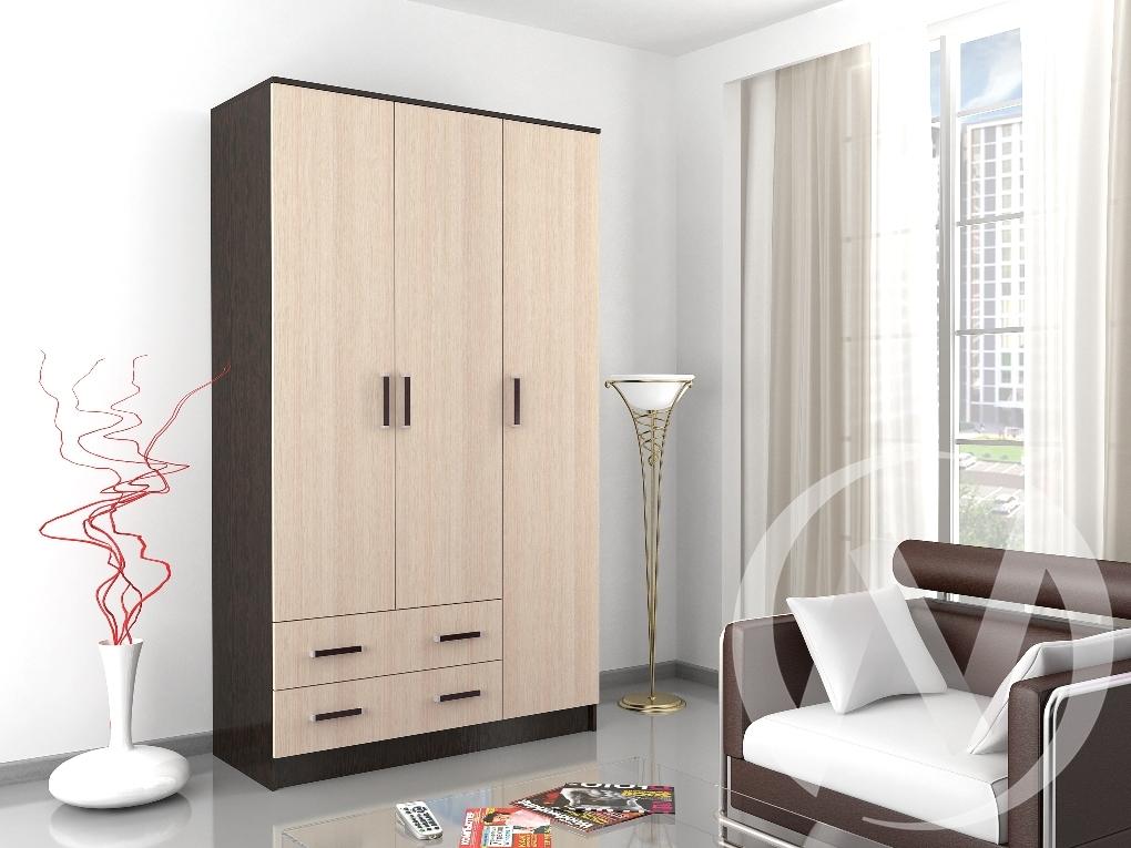 Шкаф комбинированный Лагуна без зеркала (венге/дуб молочный)