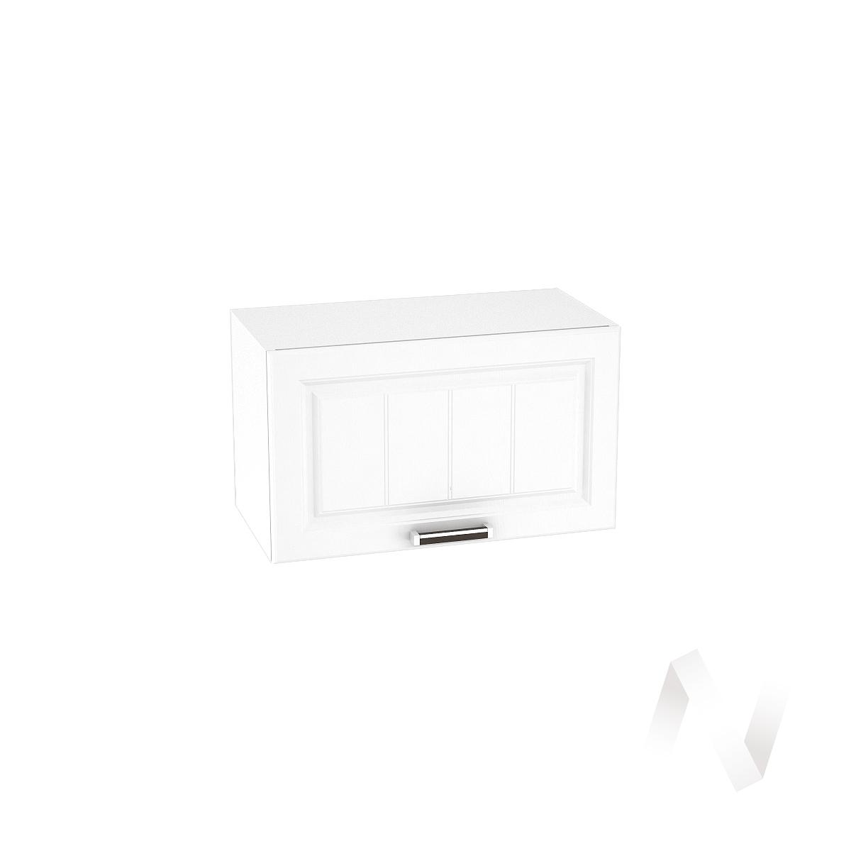 """Кухня """"Прага"""": Шкаф верхний горизонтальный 600, ШВГ 600 (белое дерево/корпус белый)"""